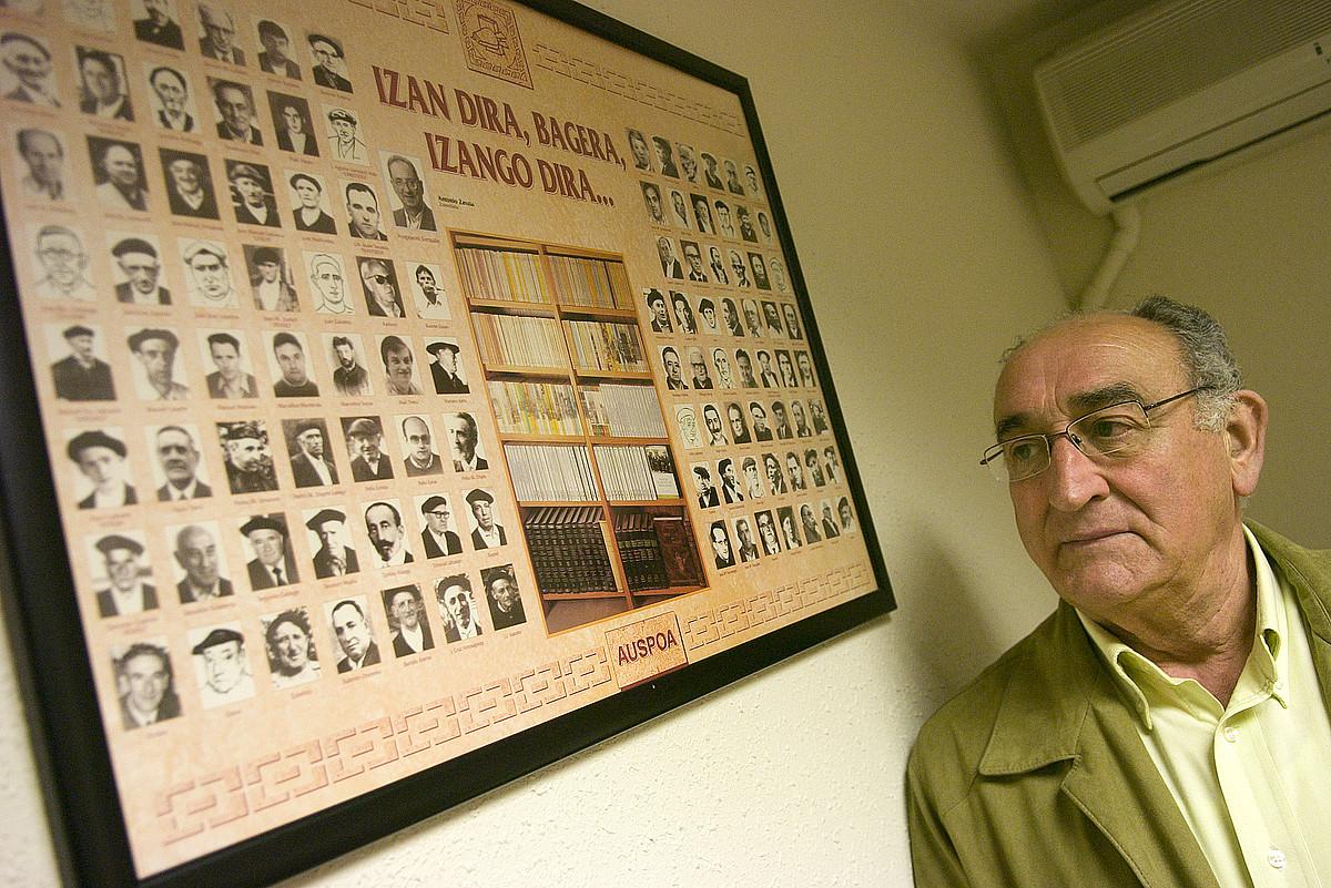 Joakin Berasategi, Sendoa argitaletxearen sortzailea, 2008ko apirilean egindako argazki batean.