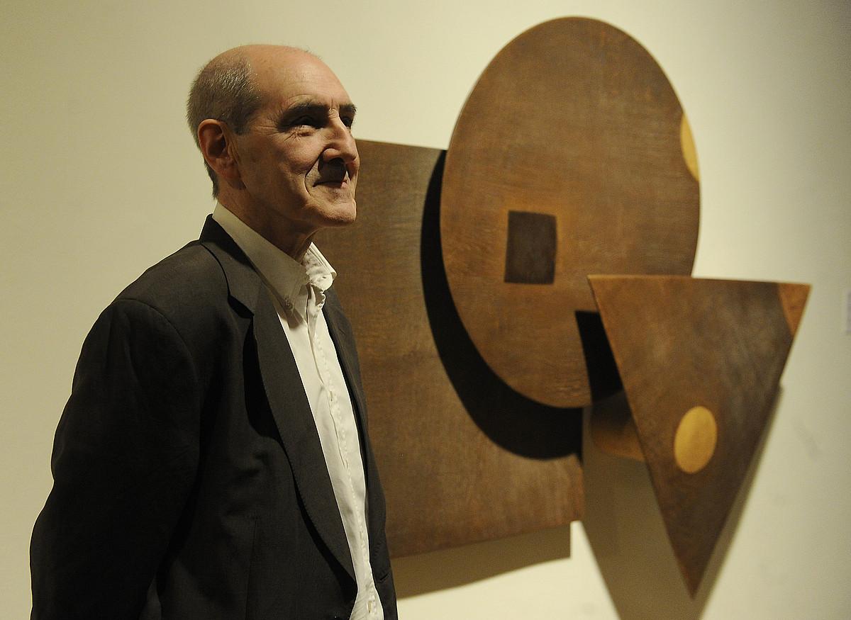 Jose Ramon Anda, atzo Bilboko Arte Eder museoan, erakusketaren inaugurazioan.