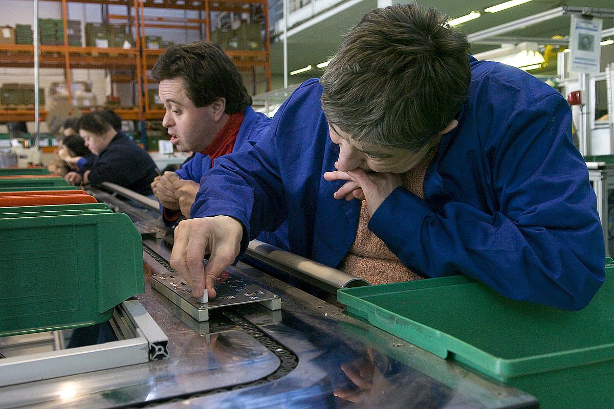 Ezinduak lanerako hartzen dituen Gureak enpresaren fabrika bat.