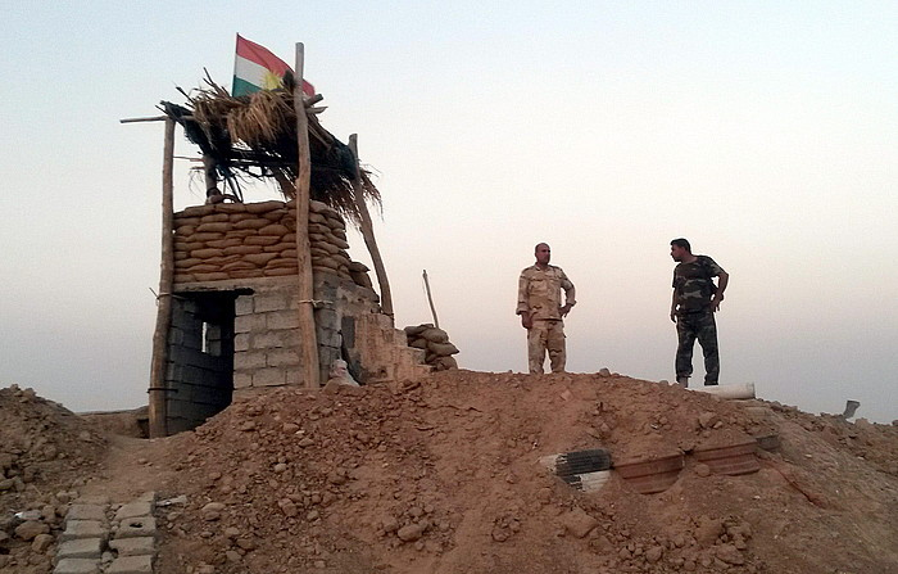 Peshmerga kurduak, Amerli hiriaren inguruko posizio batean, herenegun. ©STR / EFE