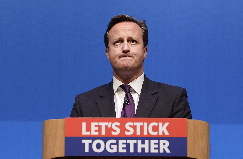 David Cameron, atzo, Aberdeenen emandako hitzaldian. ©ANDY RAIN / EFE