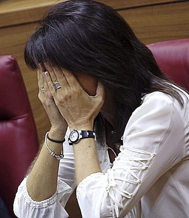 Marta Bera Osasun kontseilaria, Nafarroako Parlamentuan. ©IVAN AGINAGA / EFE
