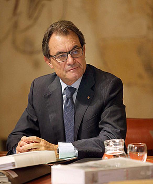 Artur Mas Kataluniako presidentea, atzo. ©TONI ALBIR /EFE