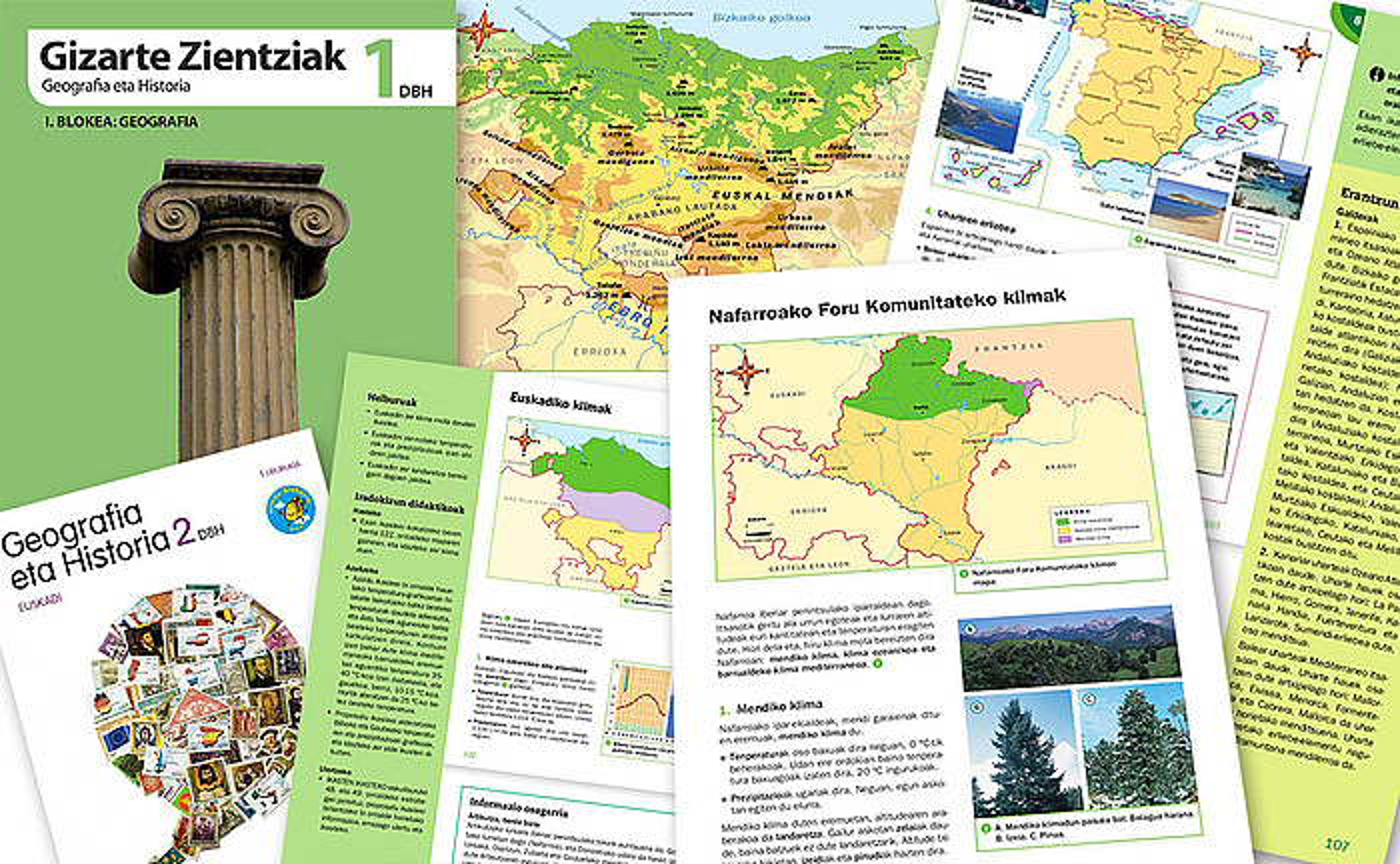 Osotasunik gabeko Euskal Herria ageri duten mapak gero eta gehiago dira eskoletan. ©- / EZEZAGUNA