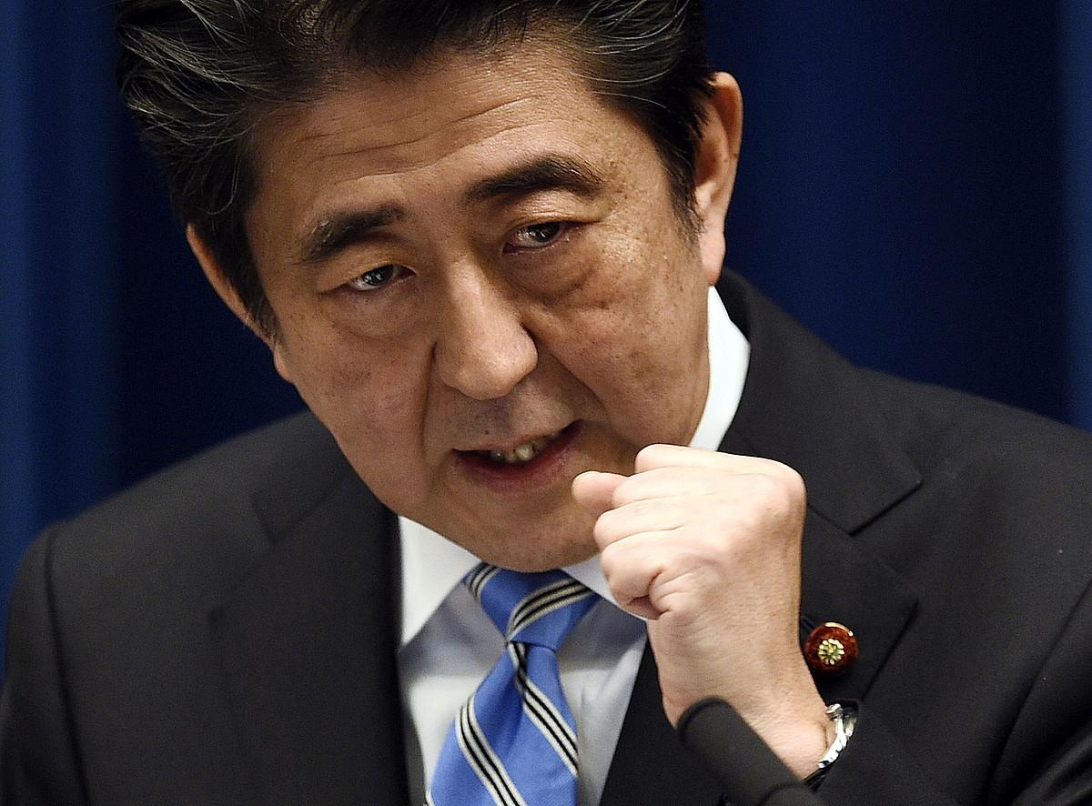 Shinzo Abe, Japoniako lehen ministroa. ©FRANK ROBICHON / EFE
