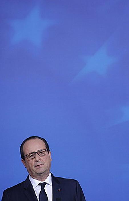 Frantziako presidente Hollande, artxiboko irudi batean.