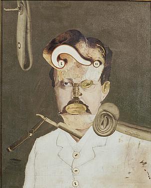 George Grosz artista dadaistaren <em>Gizartearen biktima bat</em> izeneko collage modura sortutako pieza. &copy;EFE / VAGA