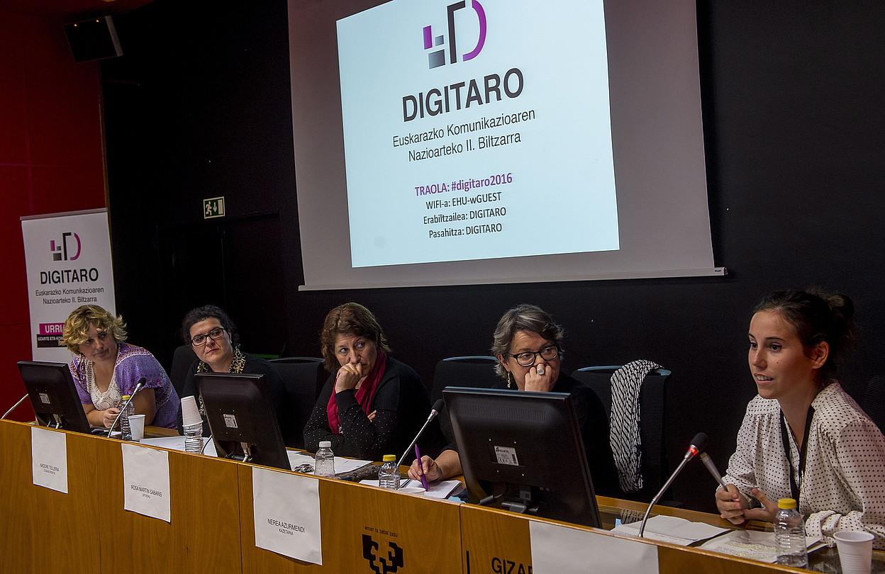 Eizmendi, Telleria, Martin, Azurmendi eta Velte, atzoko mahai inguruan. ©LUIS JAUREGIALTZO / ARGAZKI PRESS