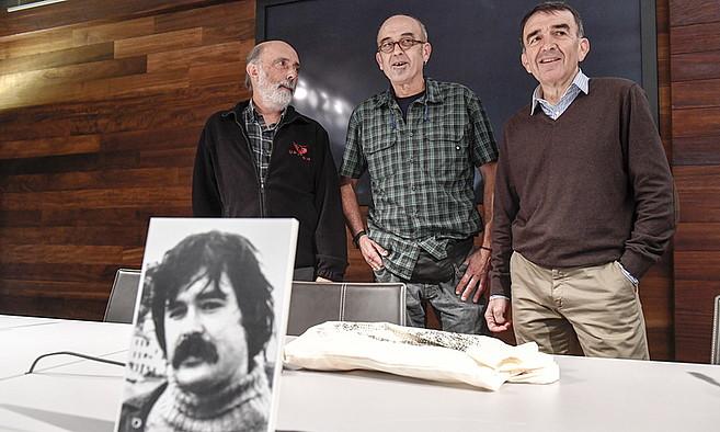 Paco Etxeberria, Eneko Etxeberria eta Iñigo Iruin, Donostian. ©JUAN CARLOS RUIZ / ARP