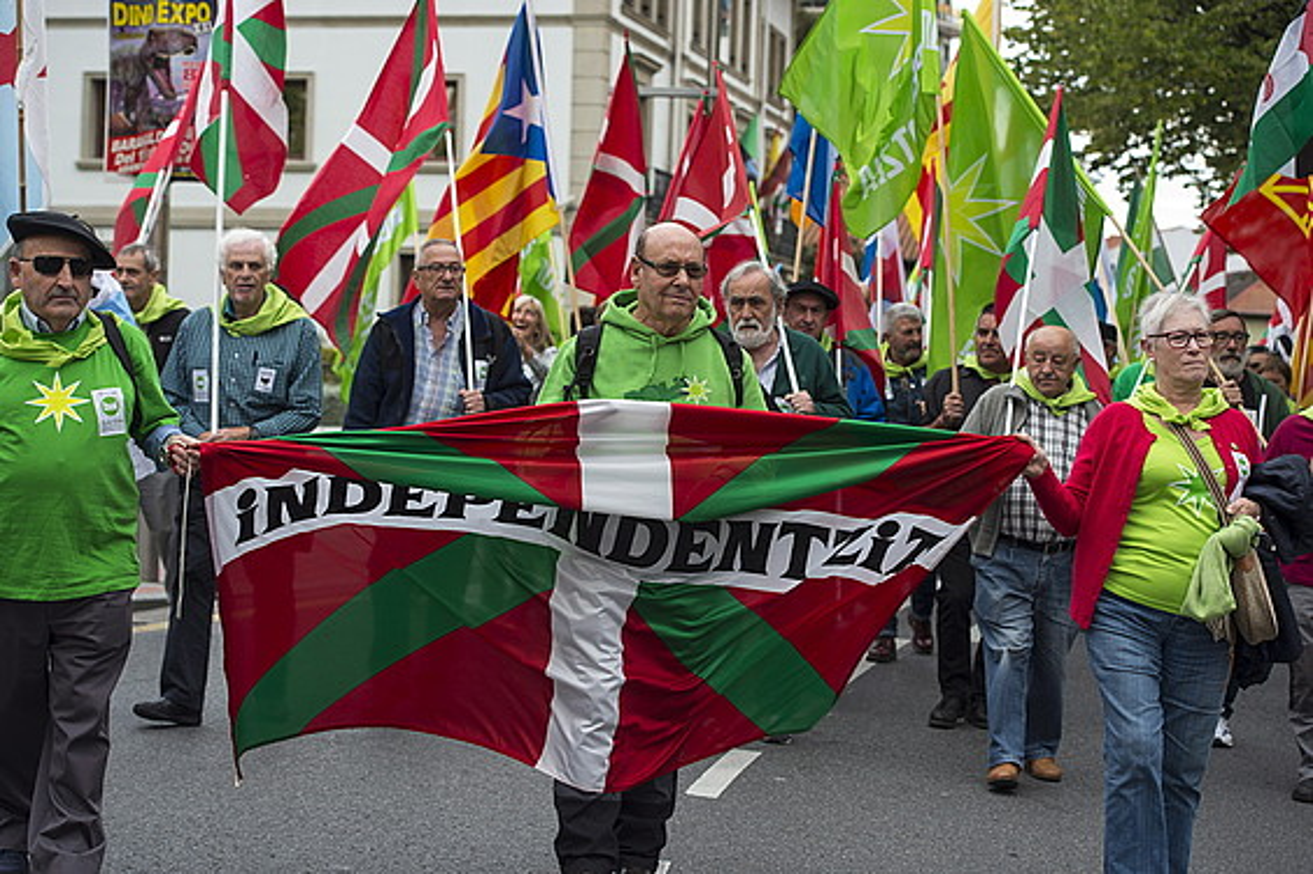 Independentistak sareak euskal estatuaren alde Sestaon egindako ekitaldia, urriaren 12an. ©MONIKA DEL VALLE / ARGAZKI PRESS