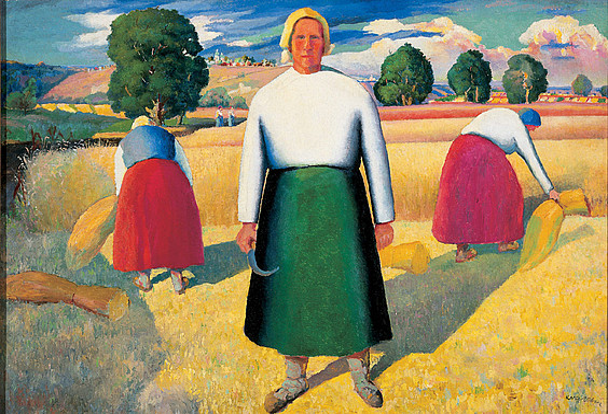 Kazimir Malevitx artistak 1928 eta 1929 artean sortutako <em>Segalaria</em> margolana. &copy;NORBERT MIGULETZ / EFE