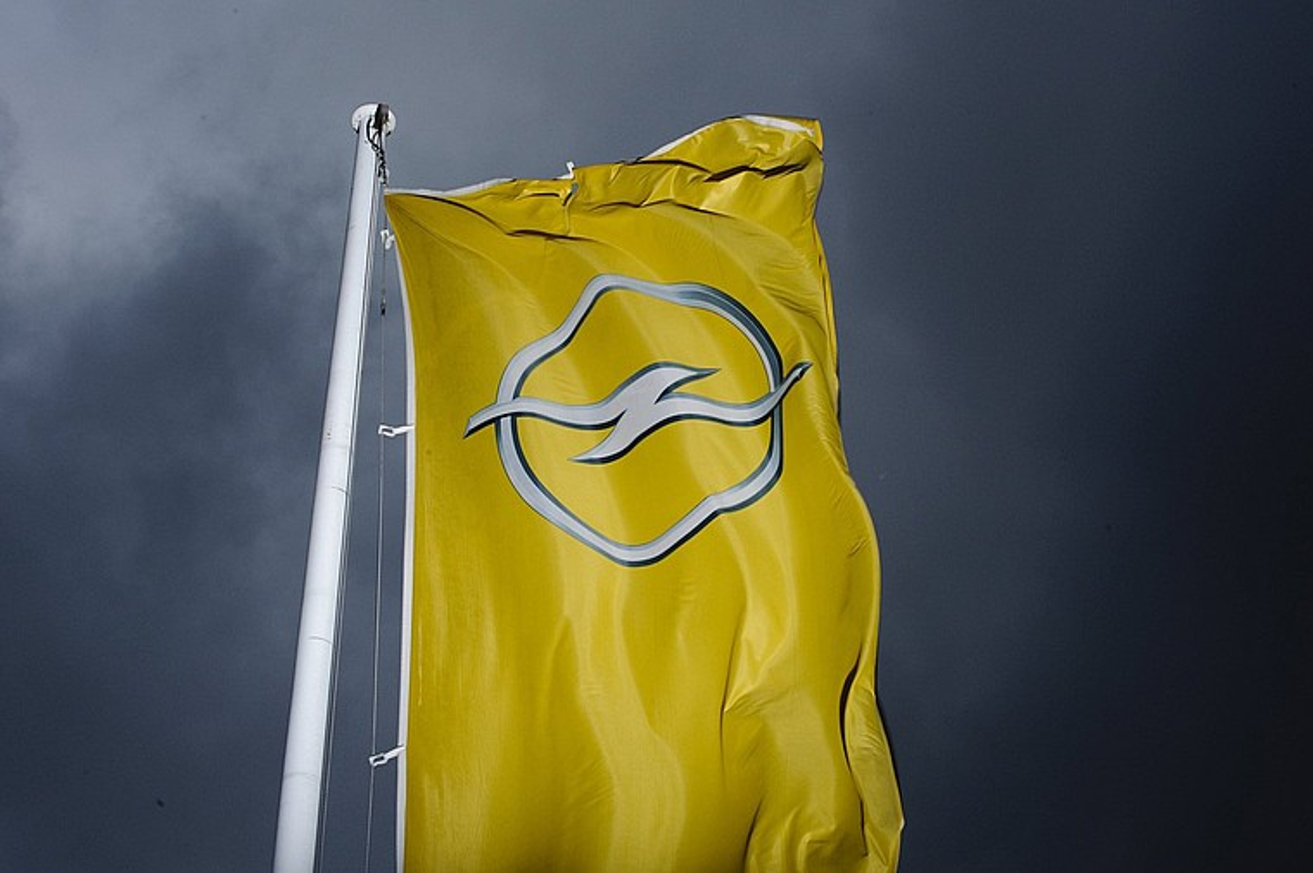Opelen logoa General Motorsen Detroiteko egoitzan (AEB), artxiboko irudian. ©BERND THISSEN / EFE