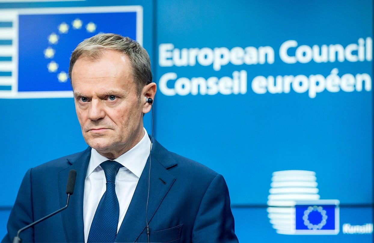 Donald Tuski 2019ra arte luzatu diote Europako Kontseiluko presidente kargua. ©STEPHANIE LECOCQ / EFE