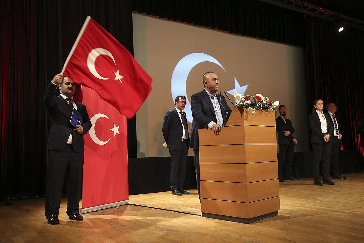 Mevlut Cavusoglu Turkiako Atzerri ministroa, Metzen, Frantzian, herenegun. ©GILLES WIRTA / EFE