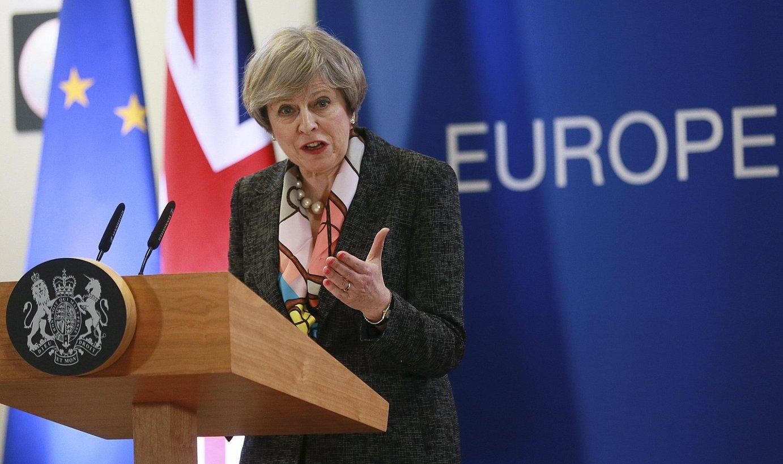 Theresa May Erresuma Batuko lehen ministroa, joan den astean, Bruselan. ©OLIVER HOSLET / EFE