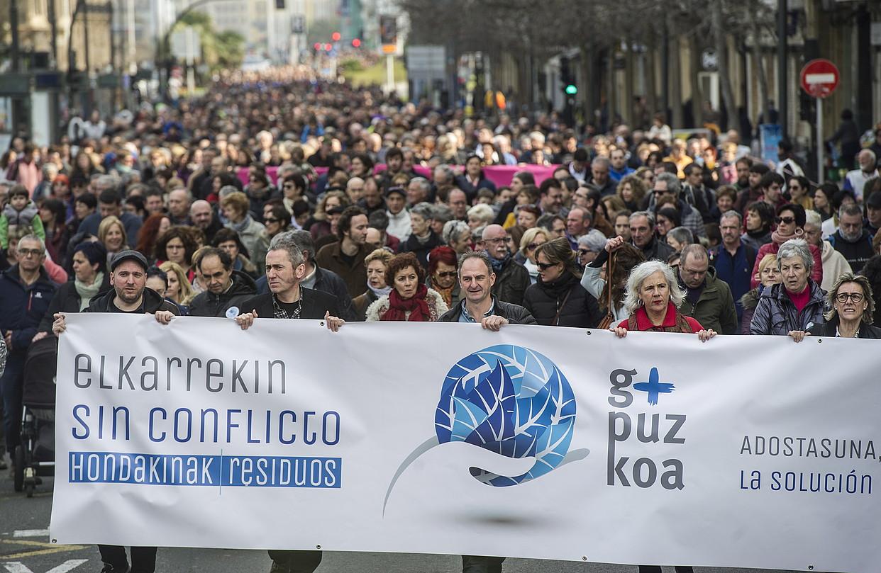 GuraSOSen manifestazioa, otsailaren 19an, Donostian. ©JAGOBA MANTEROLA / A. PRESS