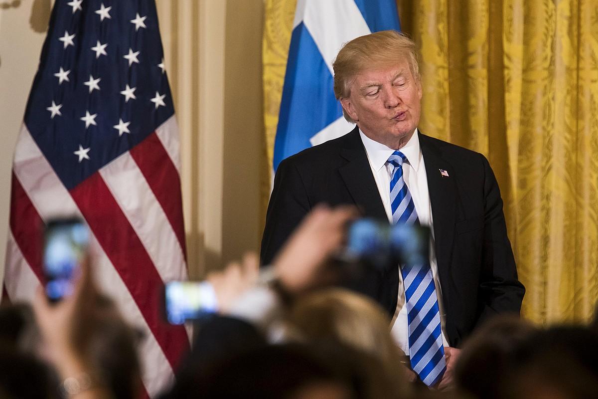 Donald Trump, atzo, Etxe Zurian. ©JIM LO SCALZO / EFE