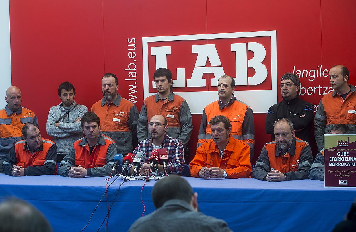 LABen prentsaurrekoa, atzo, Bilbon. ©LUIS JAUREGILATZO / ARGAZKI PRESS