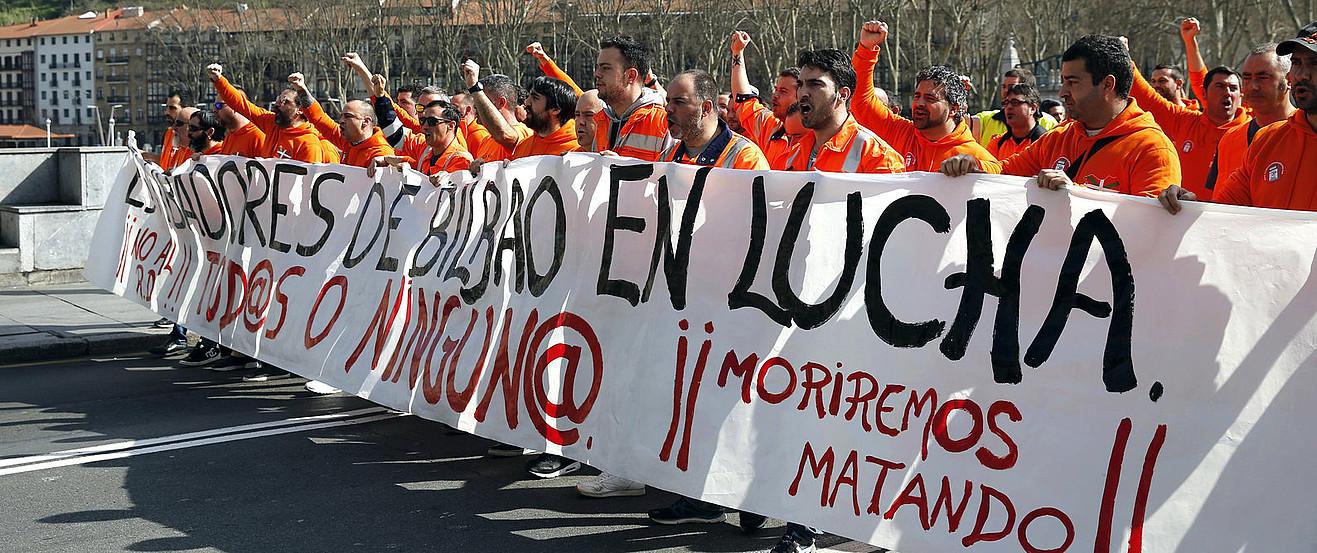 Bilboko zamaketarien manifestazioa, aurreko martxoan. ©LUIS TEJIDO / EFE