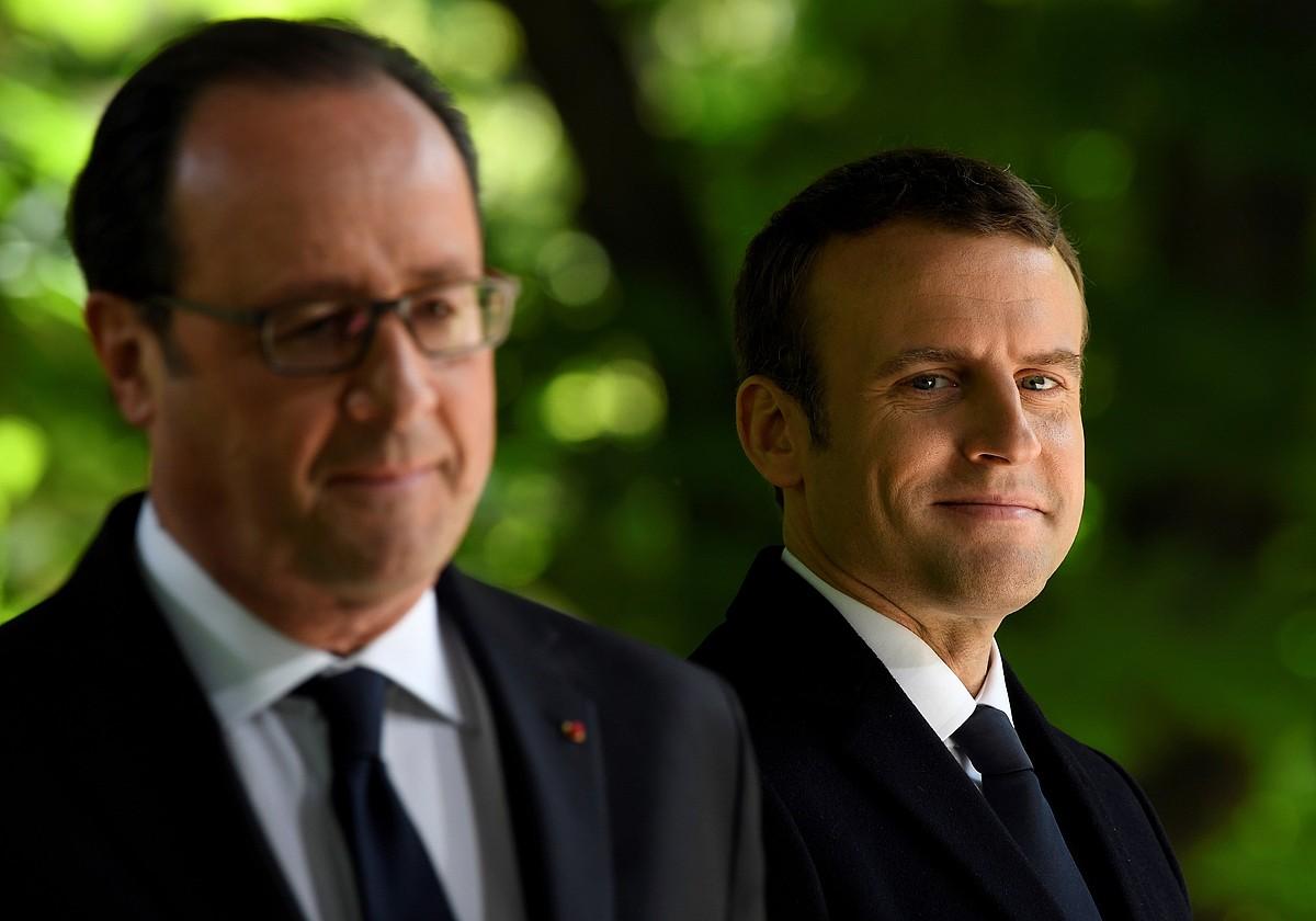 Hollande eta Macron, aste honetan, Parisen. ©ERIC FEFERBERG / EFE