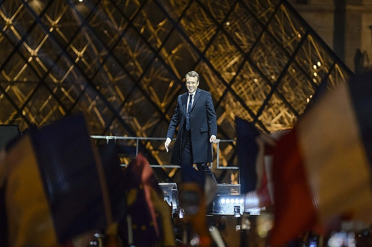 Emmanuel Macron, Frantziako presidente berria, maiatzaren 7an, Parisko Louvre museoaren kanpoaldean. ©CHRISTOPHE PETIT TESSON