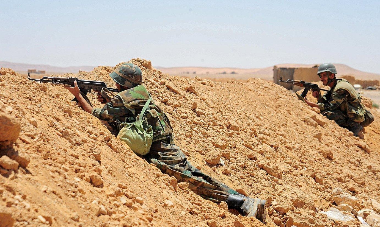 Siriako armadako soldaduak A-Tanf hiritik hurbil, herrialdearen hego-ekialdean. ©STR / EFE