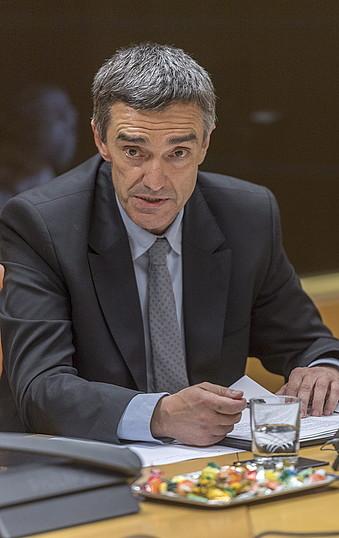Jonan Fernandez, atzo egindako agerraldian, Gasteizen. ©JUANAN RUIZ / ARGAZKI PRESS