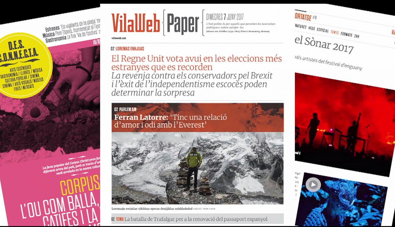 Egunero, larunbatetan izan ezik, 22:00etan jasoko dute harpidedunek <em>VilaWeb Paper</em> egunkariaren PDFa. &copy;VILAWEB