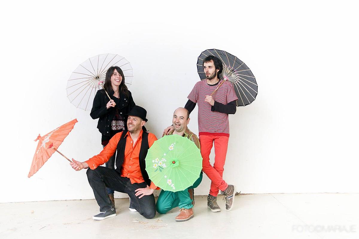 Manex Albirak, Beñat Artzek, Miren Arangurenek eta Xabier Zamargileak osatzen dute taldea. ©MARIAJE FUENTE