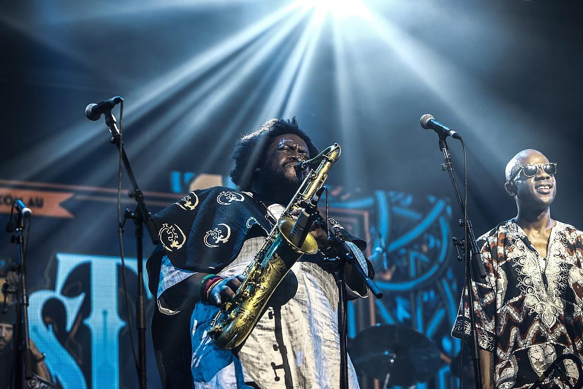 Kamasi Washington musikari estatubatuarra, iaz, Australian emandako kontzertu batean. ©KABIR DHANJI / EFE