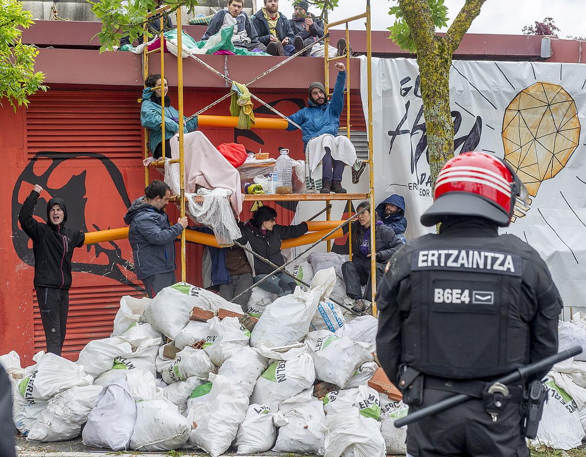 Errekaleorreko argindarra moztu zuten eguna. ©JUANAN RUIZ / ARGAZKI PRESS