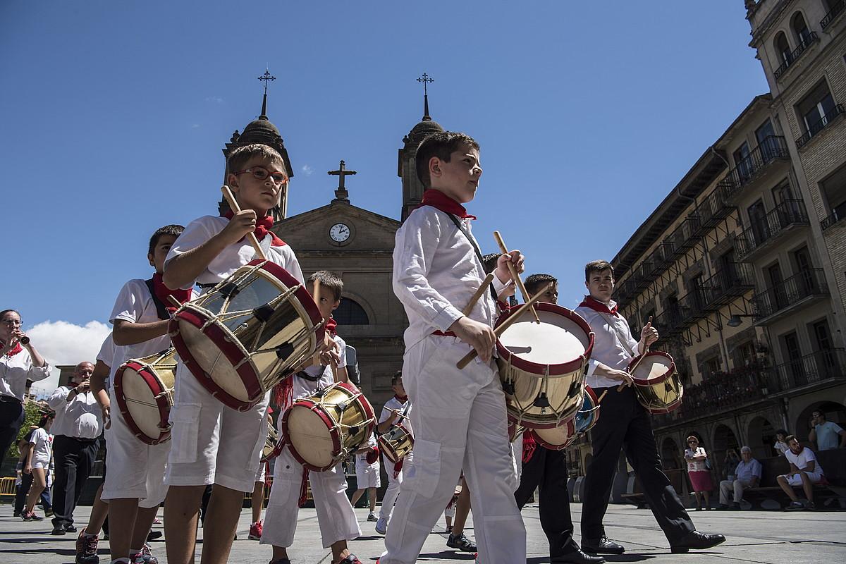 Lizarrako Puyko basilikaren kanpoaldea, atzo. ©JAGOBA MANTEROLA / ARGAZKI PRESS
