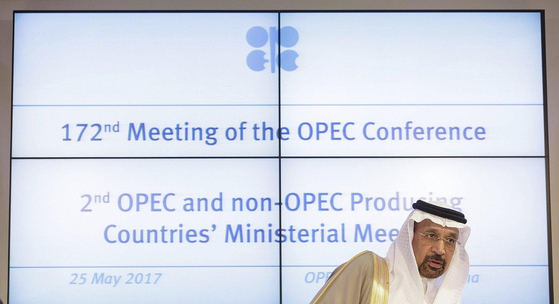 Khalid al-Falih Saudi Arabiako Energia ministroa. LPEEren azken bileran, maiatzean, Vienan.