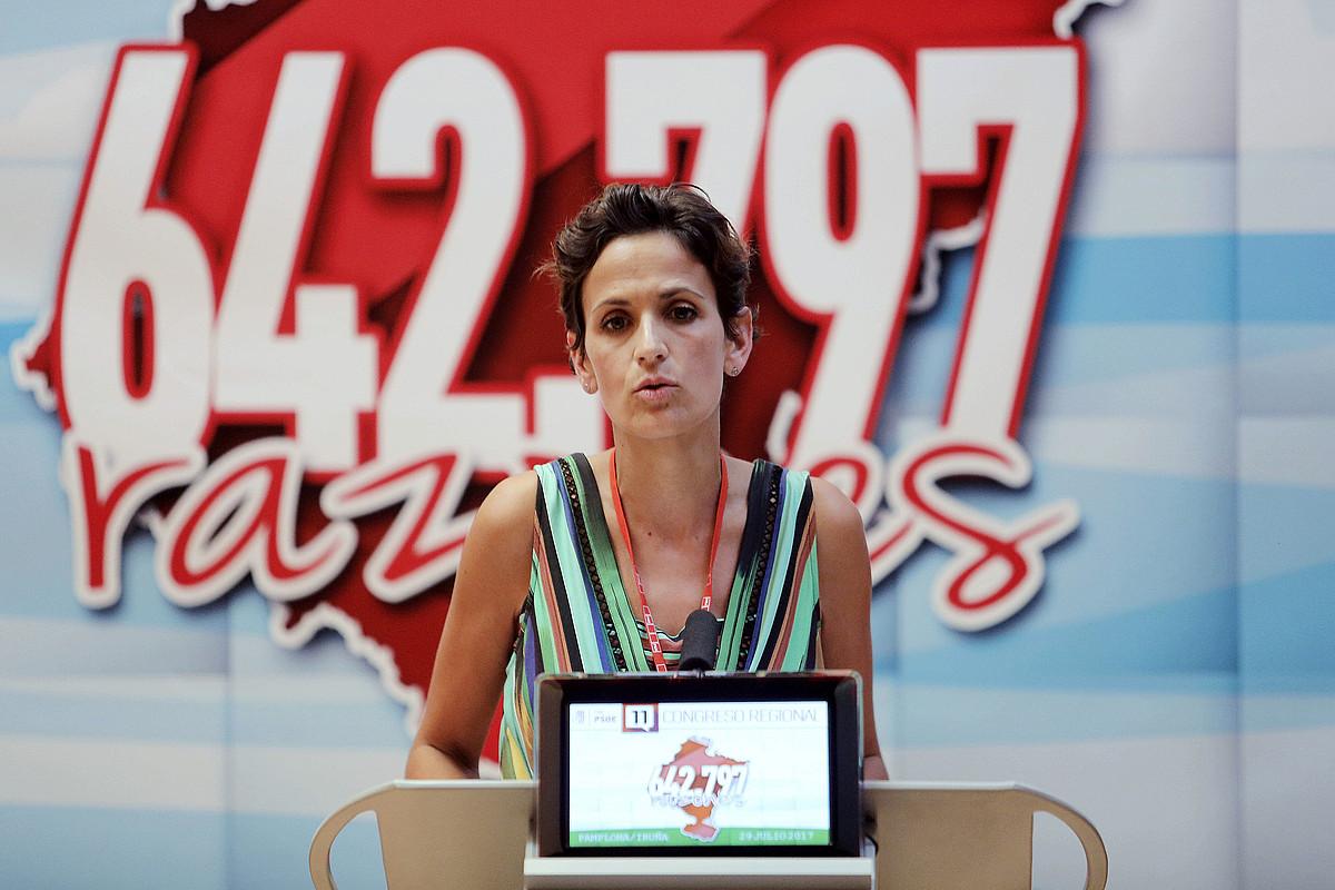 Maria Txibite, PSNren kongresuan.
