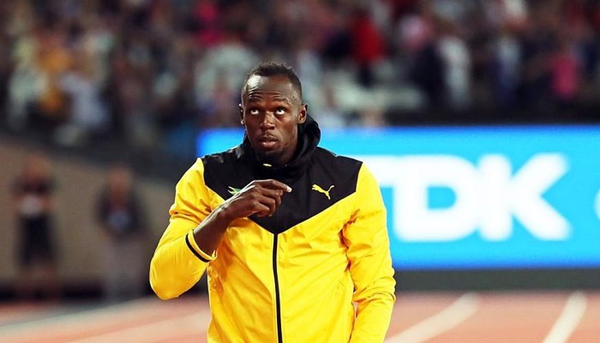 Usain Bolt, herenegun, Londresko olinpiar estadioan. Omenaldia egin zioten bere agurrean. ©SRDJAN SUKI / EFE