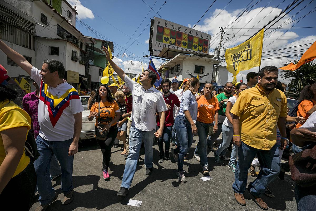 Carlos Ocariz Miranda estatuko gobernadore izateko oposizioaren hautagaia, Caracasen. ©MIGUEL GUTIERREZ / EFE