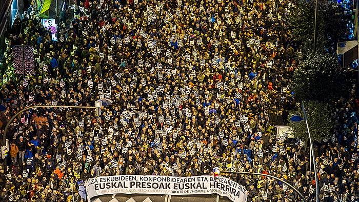 Euskal presoen eskubideen aldeko manifestazioa