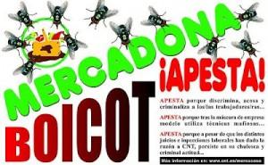 Mercadonaren aurkako afixa, CNT sindikatuarena.