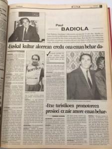Elkarrizketa Paul Badiolarekin