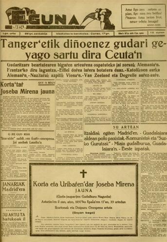 Guda-idazki-agiria: Amayur'tik Loyola'ra