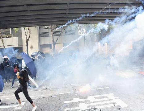 Protestak Hong Kongeko Unibertsitatean