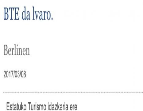 Energia Ministerioa eta euskara