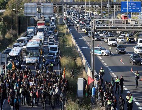 Protesta eguna Katalunian