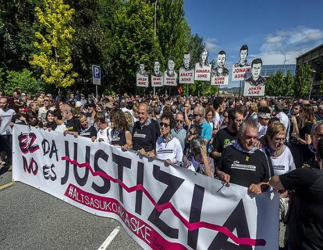 Altsasuko auziko manifestazioa, Iruñean