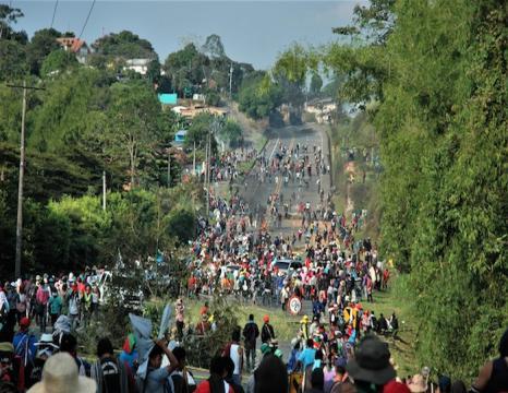 Kolonbiako indigenen protestak