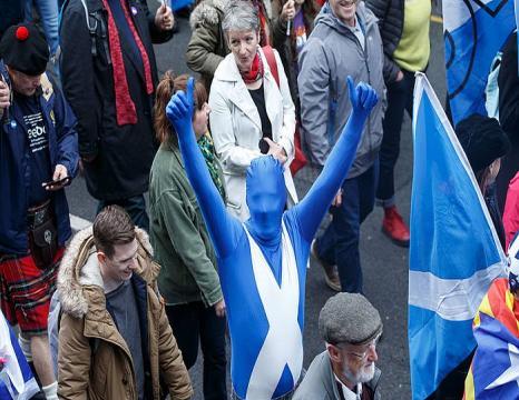 Independentziaren aldeko manifestazioa