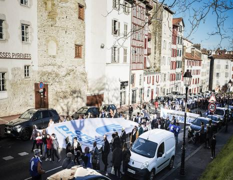 Euskal presoen eskubideen aldeko manifestazioak