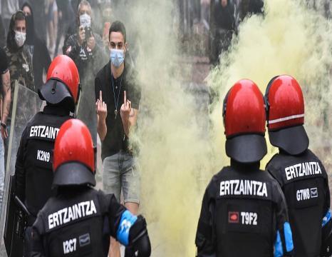 Protestak Voxen aurka Sestaon