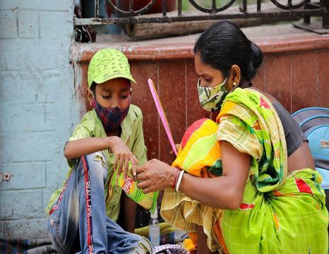 India, pandemiaren gorenean