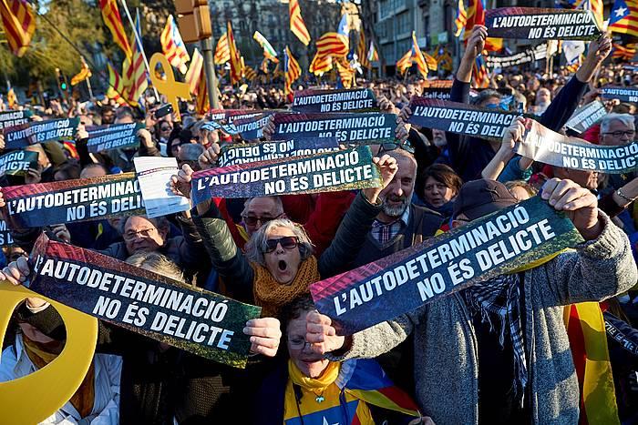 Autodeterminazioaren aldeko manifestazioa Bartzelonan